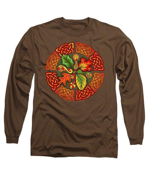 Celtic Autumn Leaves Long Sleeve T-Shirt