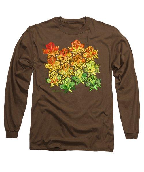 Celtic Leaf Transformation Long Sleeve T-Shirt by Kristen Fox