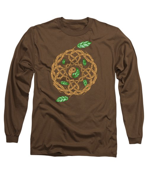 Celtic Nature Yin Yang Long Sleeve T-Shirt