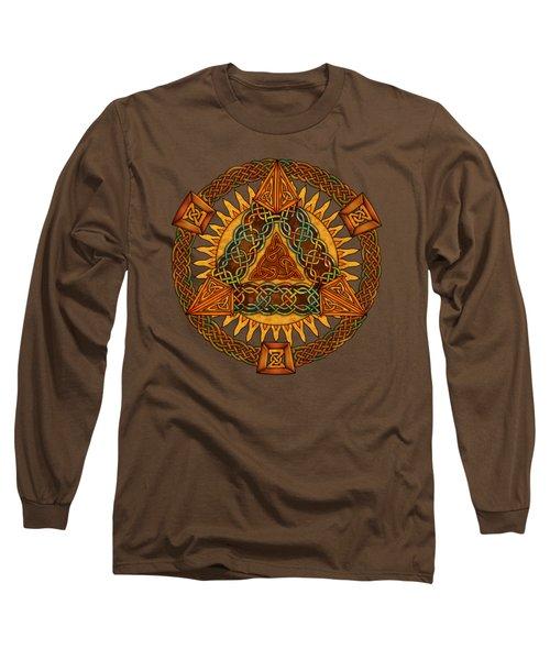 Celtic Pyramid Mandala Long Sleeve T-Shirt
