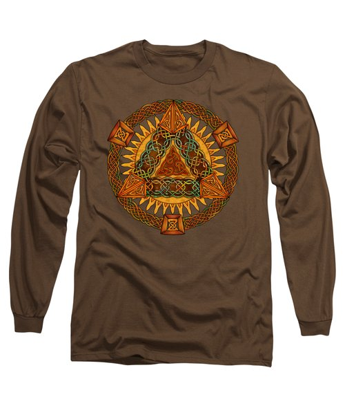 Celtic Pyramid Mandala Long Sleeve T-Shirt