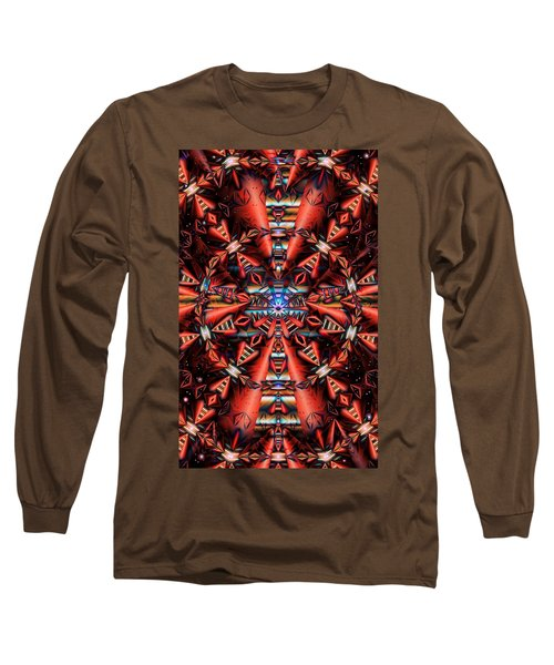Centered Long Sleeve T-Shirt by Ron Bissett