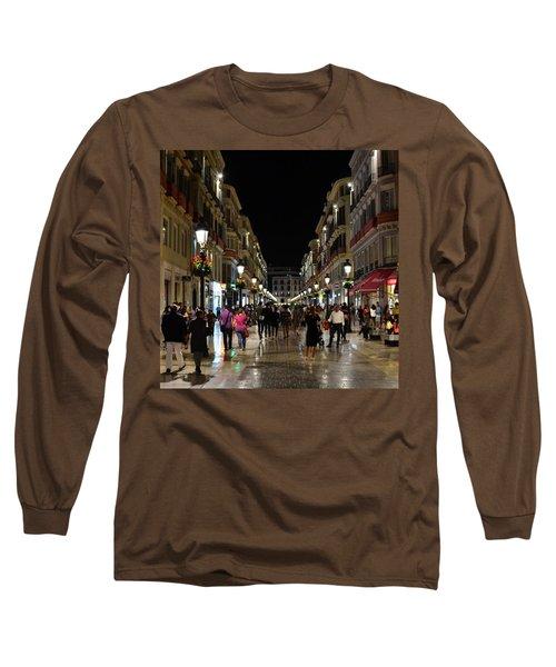 Centro De Malaga By Night - #ig_malaga Long Sleeve T-Shirt