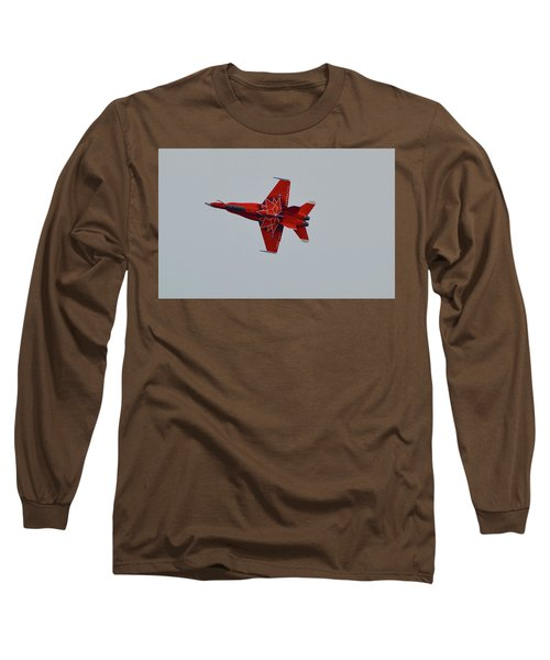 Cf-18 Demonstration For Canada 150  Long Sleeve T-Shirt