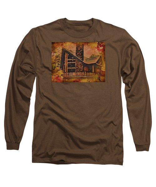 Long Sleeve T-Shirt featuring the digital art Chalet In Autumn by Kathy Kelly