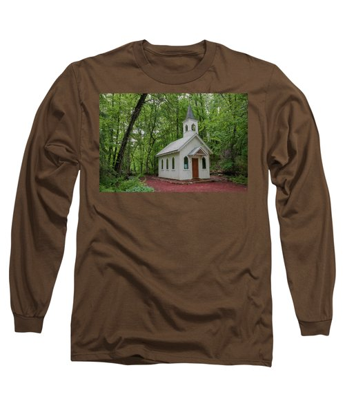 Chapel In The Woods 1 Long Sleeve T-Shirt by Trey Foerster