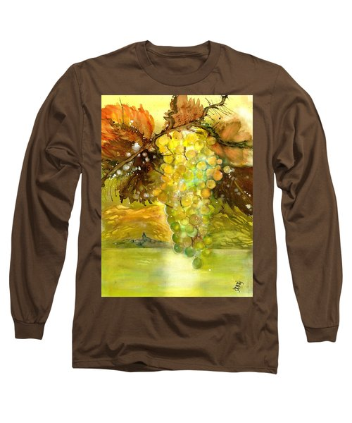 Chardonnay Grapes In Sunlight Long Sleeve T-Shirt
