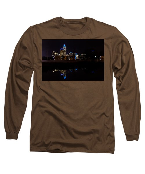 Charlotte Reflection At Night Long Sleeve T-Shirt by Serge Skiba