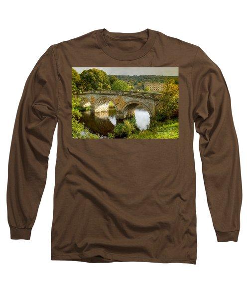 Chatsworth House And Bridge Long Sleeve T-Shirt