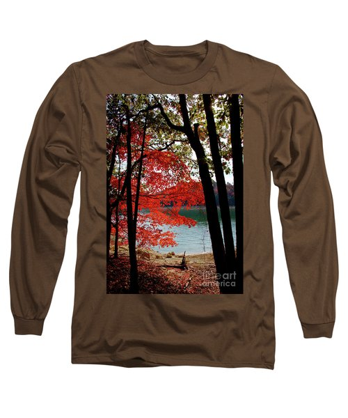 Long Sleeve T-Shirt featuring the photograph Cherokee Lake Color by Douglas Stucky