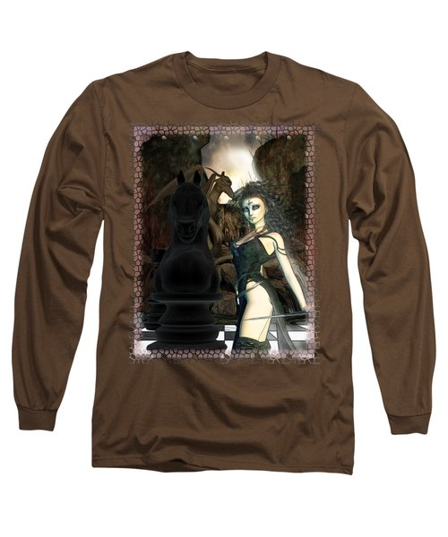 Chess 3d Fantasy Art Long Sleeve T-Shirt by Sharon and Renee Lozen