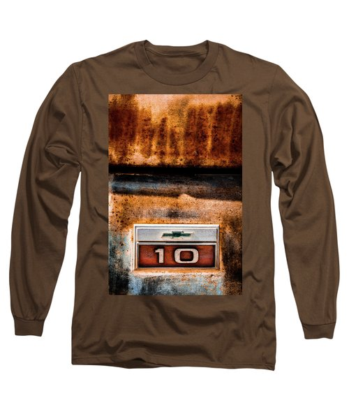 Chevy C10 Rusted Emblem Long Sleeve T-Shirt