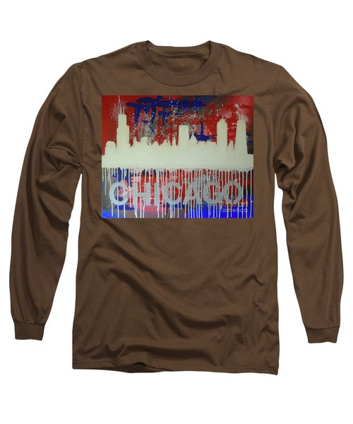Chicago Drip Long Sleeve T-Shirt by Melissa Goodrich