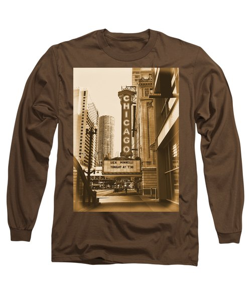 Chicago Theater - 3 Long Sleeve T-Shirt by Ely Arsha