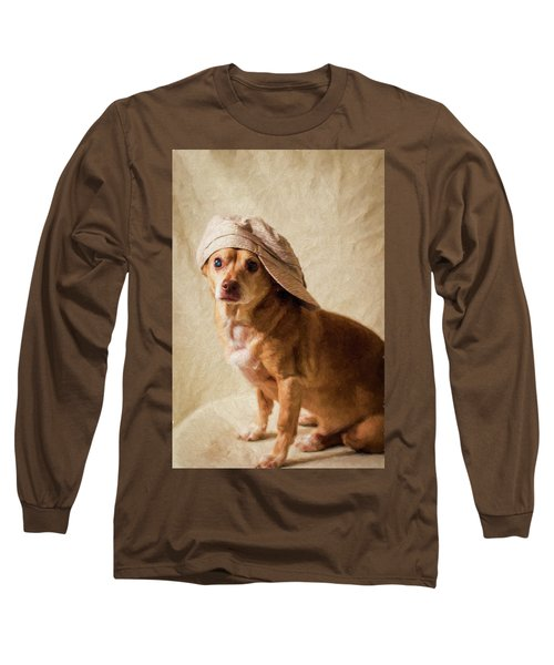 Chihuahua In A Newsboy Hat Long Sleeve T-Shirt