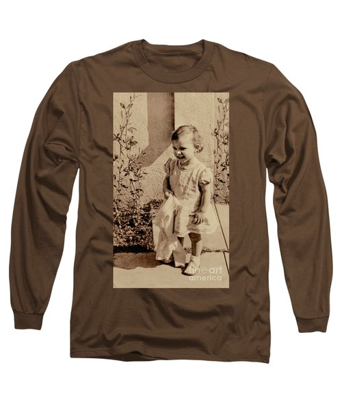 Long Sleeve T-Shirt featuring the photograph Child Of 1940s by Linda Phelps