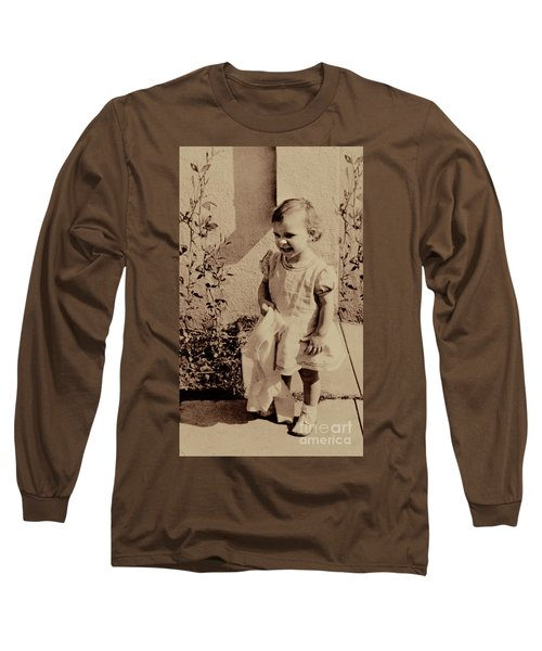Long Sleeve T-Shirt featuring the photograph Child Of  The 1940s by Linda Phelps