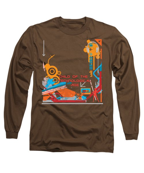 Child Of The Technological Age Long Sleeve T-Shirt by Paulette B Wright
