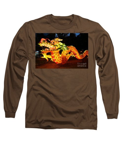Long Sleeve T-Shirt featuring the photograph Chinese Lantern In The Shape Of A Dragon by Yali Shi