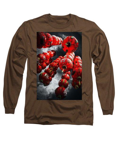 Chinese Lanterns Long Sleeve T-Shirt