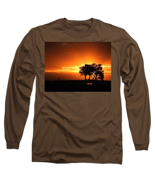 Long Sleeve T-Shirt featuring the photograph Chobe River Sunset by Betty-Anne McDonald