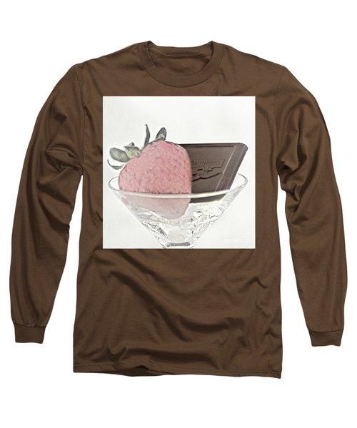 Chocolate And Strawberry Martini Long Sleeve T-Shirt