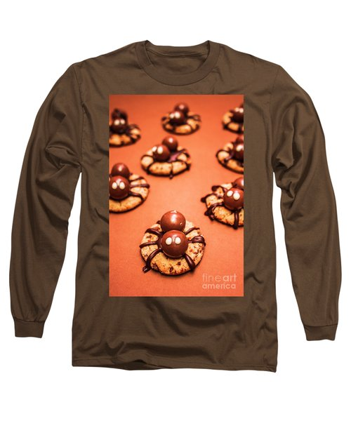 Chocolate Peanut Butter Spider Cookies Long Sleeve T-Shirt