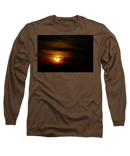 Long Sleeve T-Shirt featuring the photograph Chocolate  Sunset by John Glass