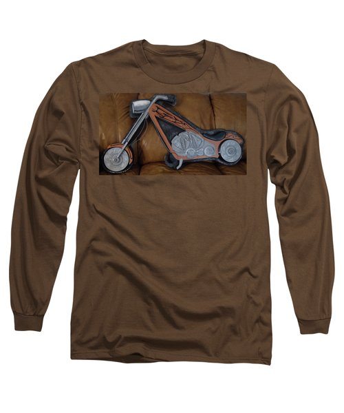 Chopper Long Sleeve T-Shirt by Val Oconnor