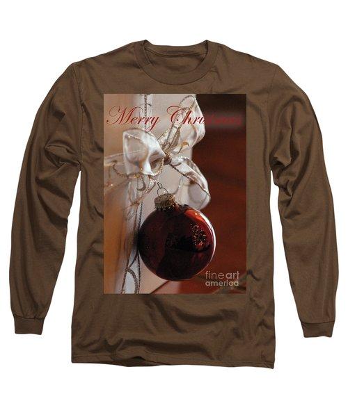 Christmas Ball And Bow Long Sleeve T-Shirt