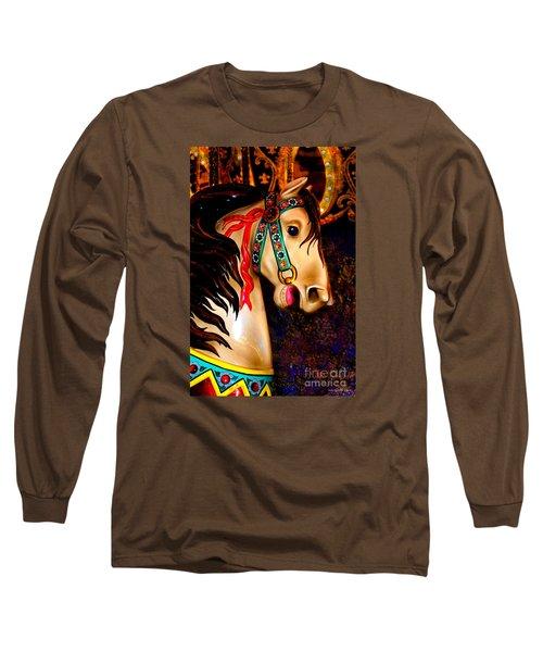 Christmas Carousel Horse Long Sleeve T-Shirt