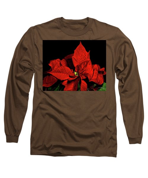 Christmas Fire Long Sleeve T-Shirt by Christopher Holmes