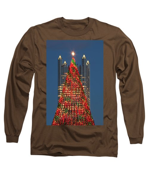 Long Sleeve T-Shirt featuring the photograph Christmas In Pittsburgh 2016  by Emmanuel Panagiotakis