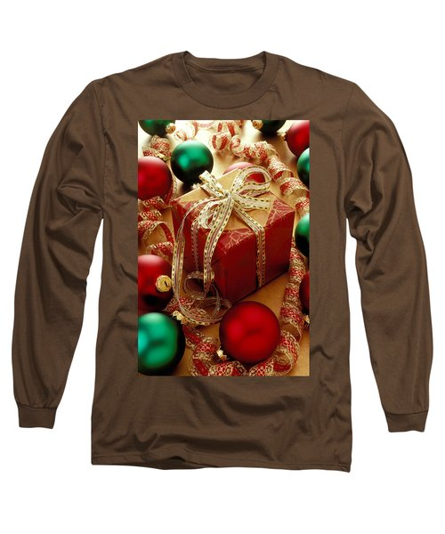 Christmas Present And Ornaments Long Sleeve T-Shirt