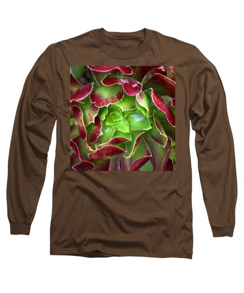 Christmas Succulent Long Sleeve T-Shirt by Russell Keating