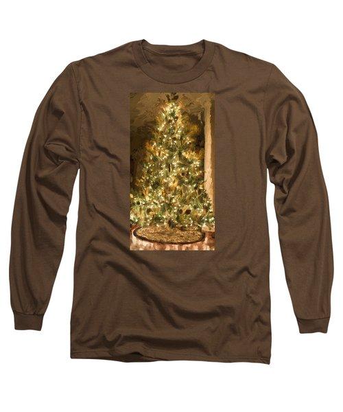 Christmas Tree Long Sleeve T-Shirt by Cathy Jourdan