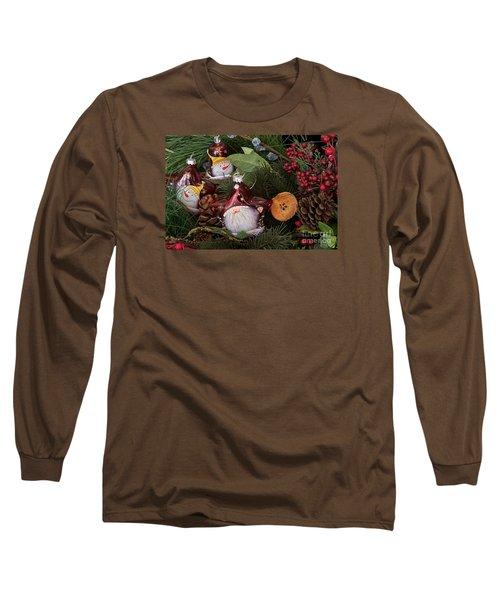 Christmas Tree Decor Long Sleeve T-Shirt by Vinnie Oakes