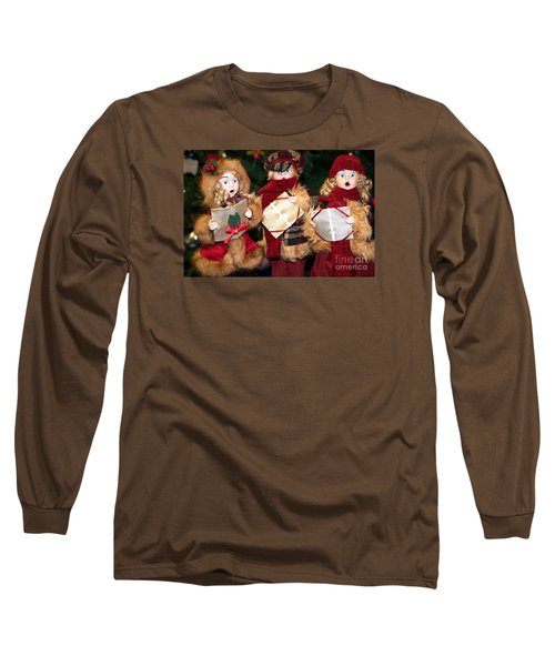 Christmas Trio Long Sleeve T-Shirt by Vinnie Oakes