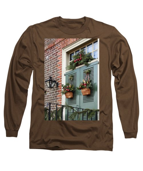 Christmas Welcome Long Sleeve T-Shirt by Sally Weigand
