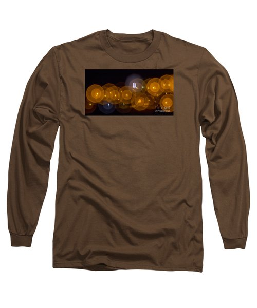 Church With Circle Bokeh Long Sleeve T-Shirt by Odon Czintos