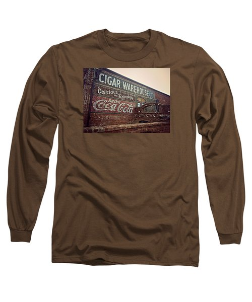 Cigar Warehouse Greenville Sc Long Sleeve T-Shirt by Kathy Barney