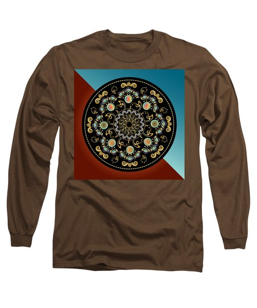 Circularium No 2640 Long Sleeve T-Shirt by Alan Bennington