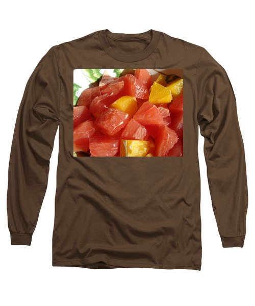 Citrus In Winter Long Sleeve T-Shirt by Jana Russon
