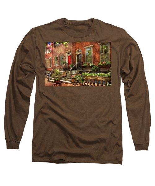 Long Sleeve T-Shirt featuring the photograph City - Pa Philadelphia - Pretty Philadelphia by Mike Savad