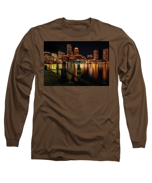 City With A Soul- Boston Harbor Long Sleeve T-Shirt