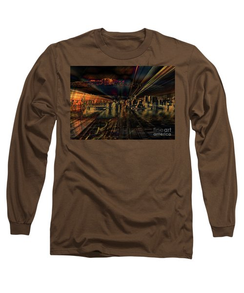 Cityscape Long Sleeve T-Shirt by Elaine Hunter