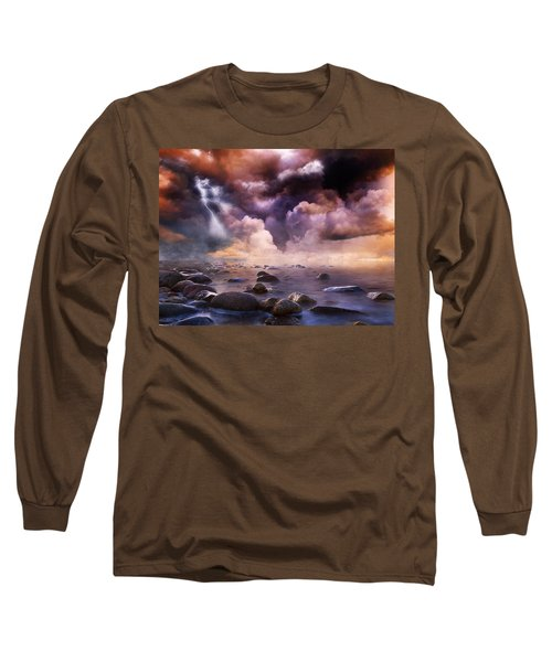 Clash Of The Clouds Long Sleeve T-Shirt by Gabriella Weninger - David