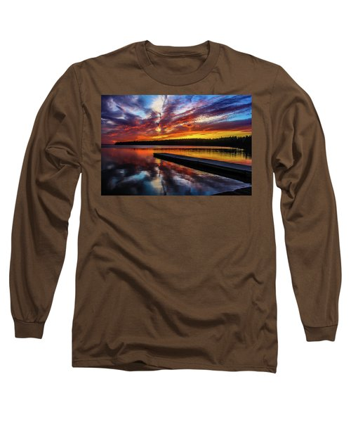 Clear Lake At Sunset. Riding Mountain National Park, Manitoba, Canada. Long Sleeve T-Shirt