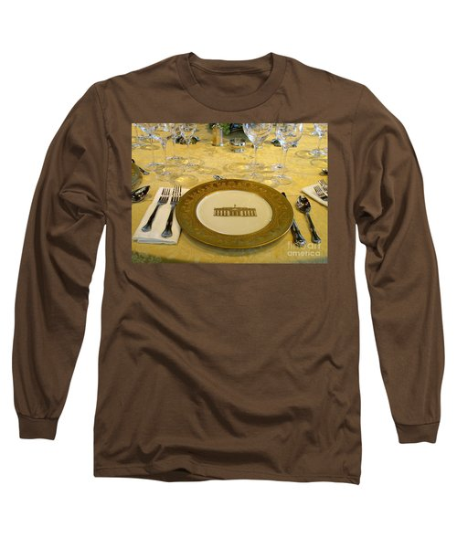 Clinton State Dinner 2 Long Sleeve T-Shirt by Randall Weidner
