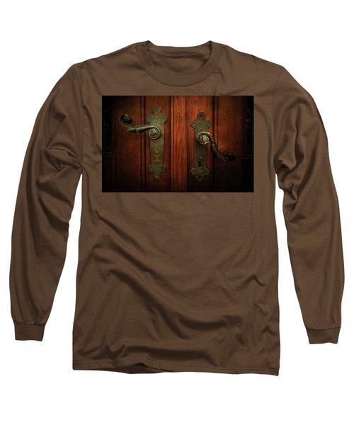 Closeup Of Two Ornamented Handles Long Sleeve T-Shirt by Jaroslaw Blaminsky